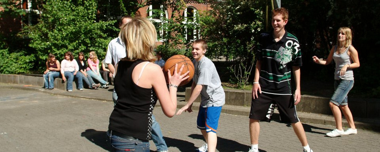 Basketballspiel Jugendherberge Neumünster