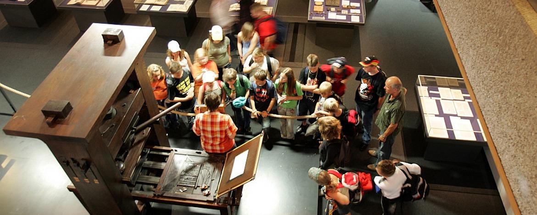 Schüler im Gutenberg-Museum