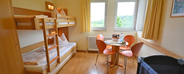 Zimmer der Jugendherberge Burg Lichtenberg