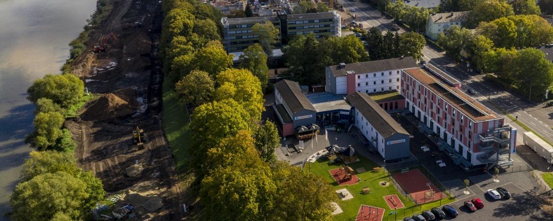 Blick auf die Jugendherberge Trier