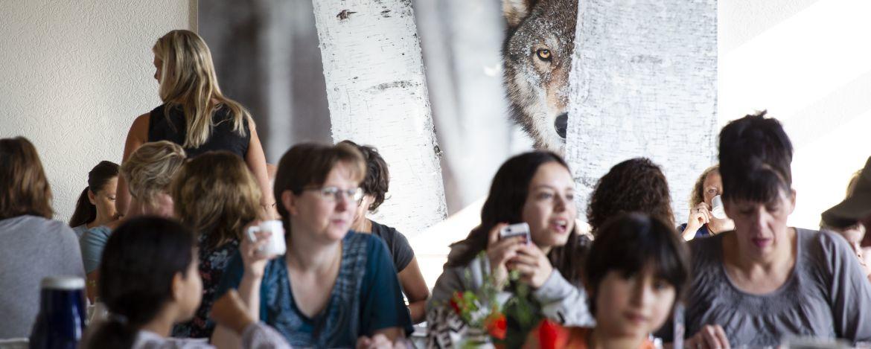 Speiseraum der Jugendherberge Wolfstein
