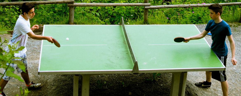 Tischtennis am Berg