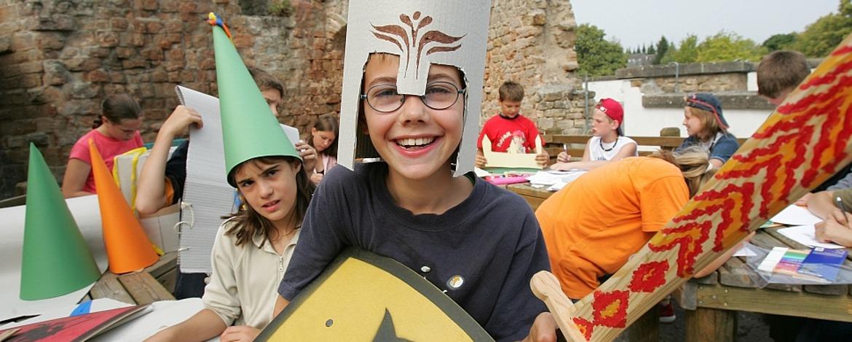 Ritterprogramm in der Jugendherberge Altleiningen