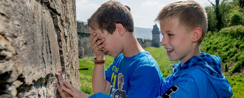 Wahrnehmungsübung in der Jugendherberge Altleiningen