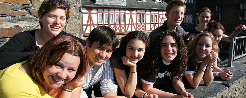 Schüler in der Jugendherberge Bacharach