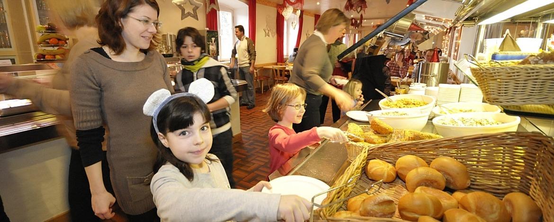 Frühstücksbüfett in der Jugendherberge Bacharach