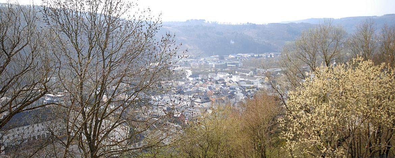 Blick von der Jugendherberge auf Bad Ems