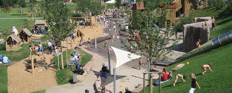 Spielplatz im Park am Mäuseturm