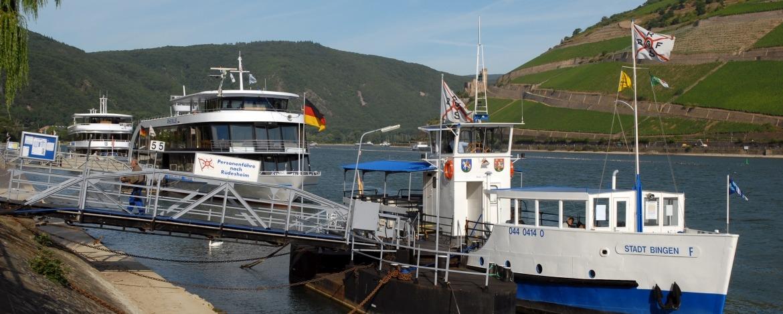Schiffsanleger in Bingen