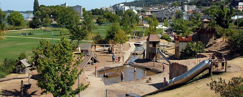 Freizeitgelände Park am Mäuseturm in Bingen
