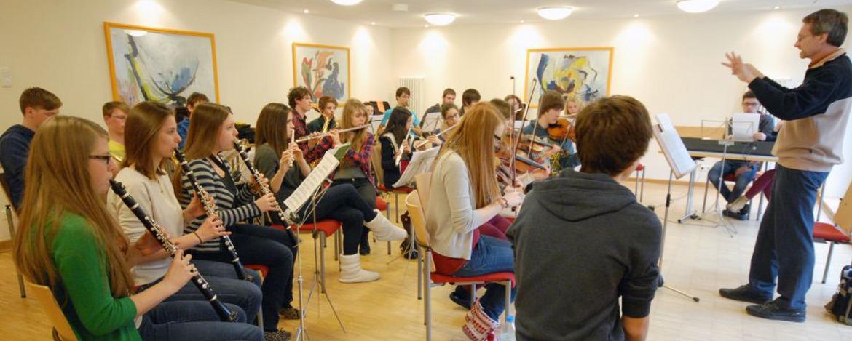 Musikprobe in der Jugendherberge Cochem