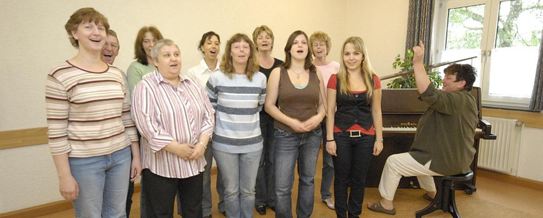 Musikprobe in der Jugendherberge Dahn