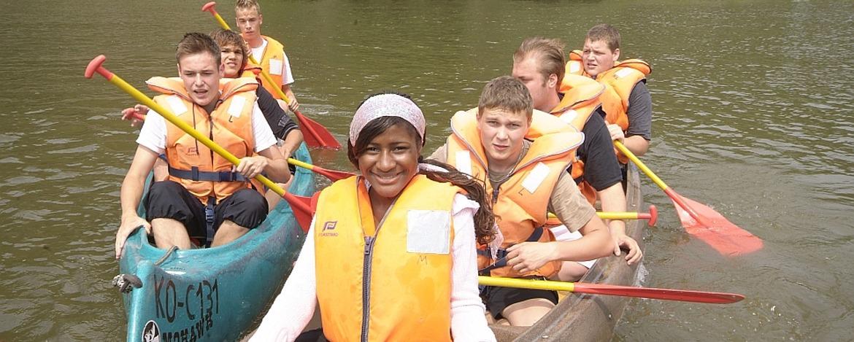Mit dem Kanu durchs Lahntal