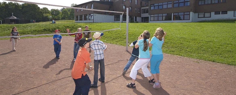 Volleyballfeld der Jugendherberge Gerolstein