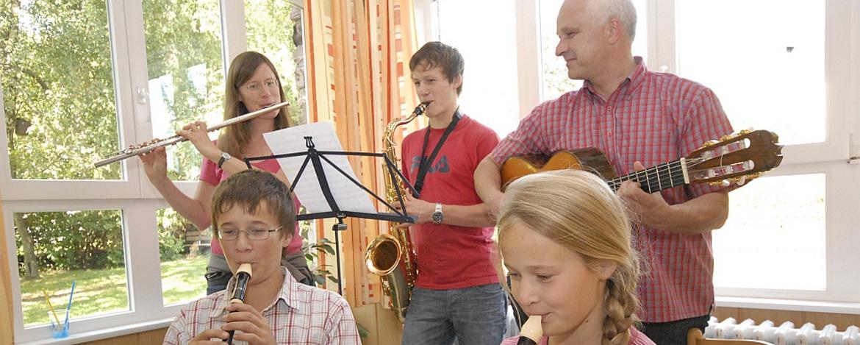 Musikprobe in der Jugendherberge Hermeskeil