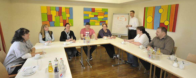 Tagungsraum der Jugendherberge Hochspeer
