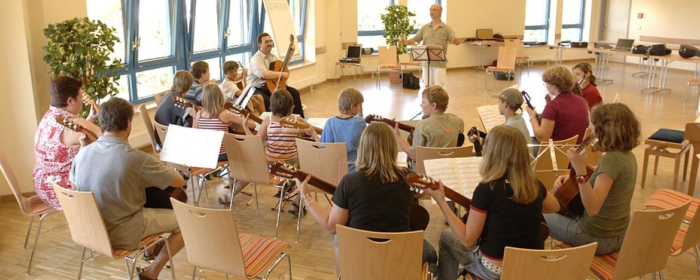 Musikprobe in der Jugendherberge Homburg