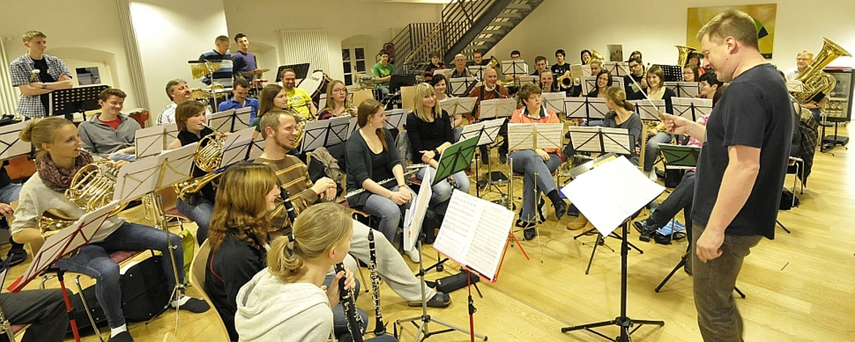 Musikprobe in der Jugendherberge Kaub