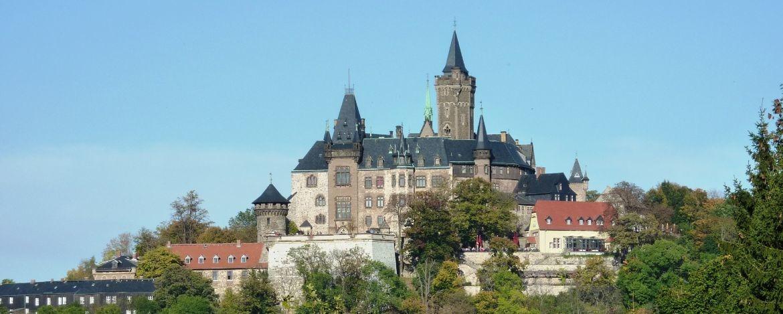 Schloss Wernigerode, Blick von der Altstadt