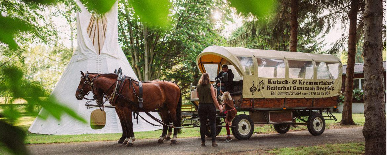 Familie beim Radfahren in Kretzschau