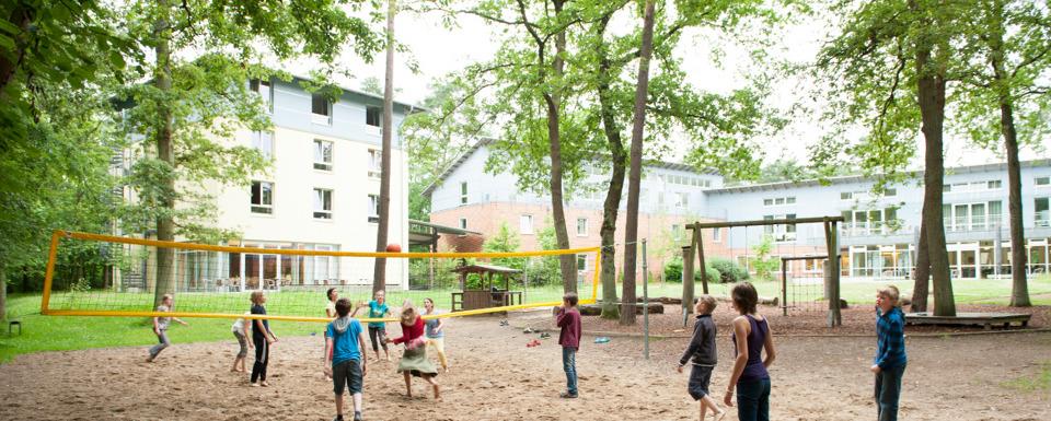 Fahrradtour durch die blühende Heide