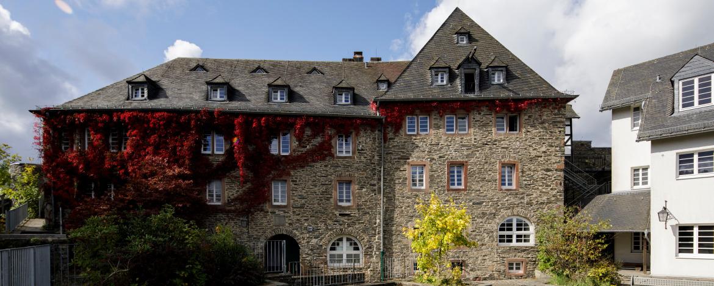 Ausblick aus der Jugendherberge Burg Monschau