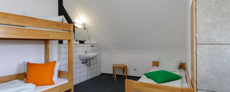 Mehrbettzimmer (Beispiel) in der Jugendherberge Burg Monschau