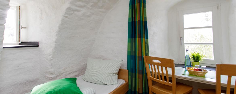 Zweibettzimmer (Beispiel) in der Jugendherberge Burg Monschau