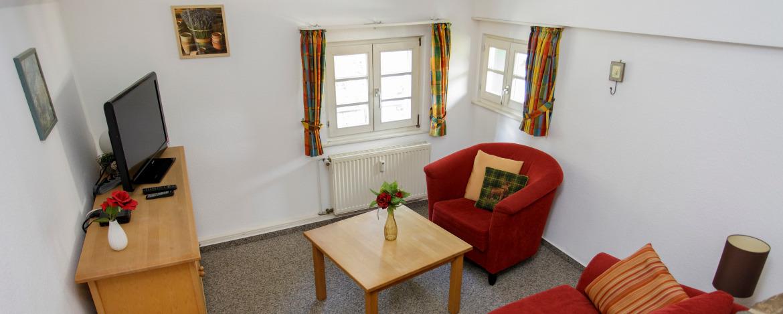 Zimmer einer Ferienwohnung in der Jugendherberge Burg Monschau