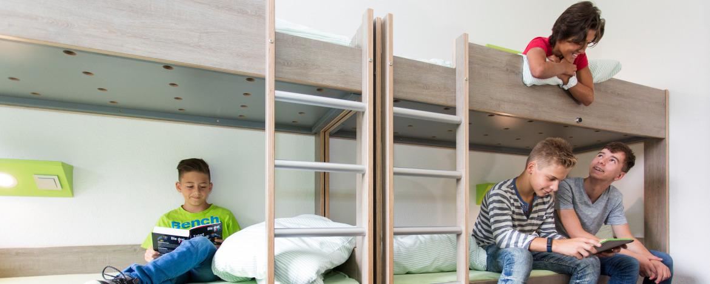 Mehrbettzimmer in der Jugendherberge Monschau-Hargard