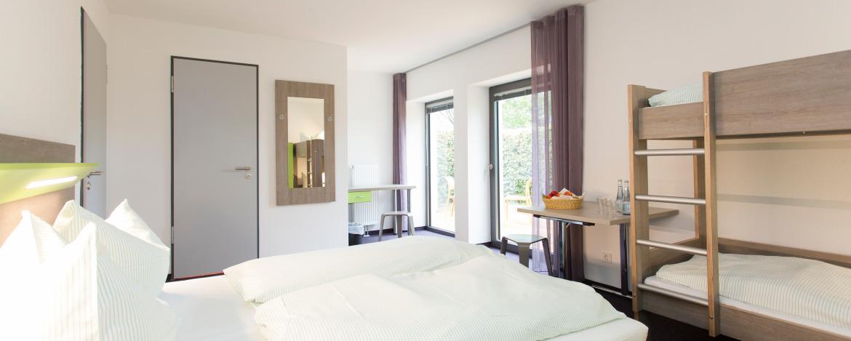 Beispiel: Komfortzimmer in der Jugendherberge Monschau-Hargard