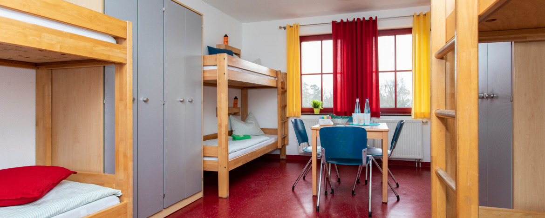 Mehrbettzimmer (Beispiel) in der Jugendherberge Nettetal-Hinsbeck