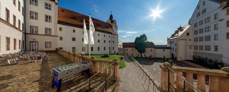 Terrasse Jugendherberge Schloss Colditz
