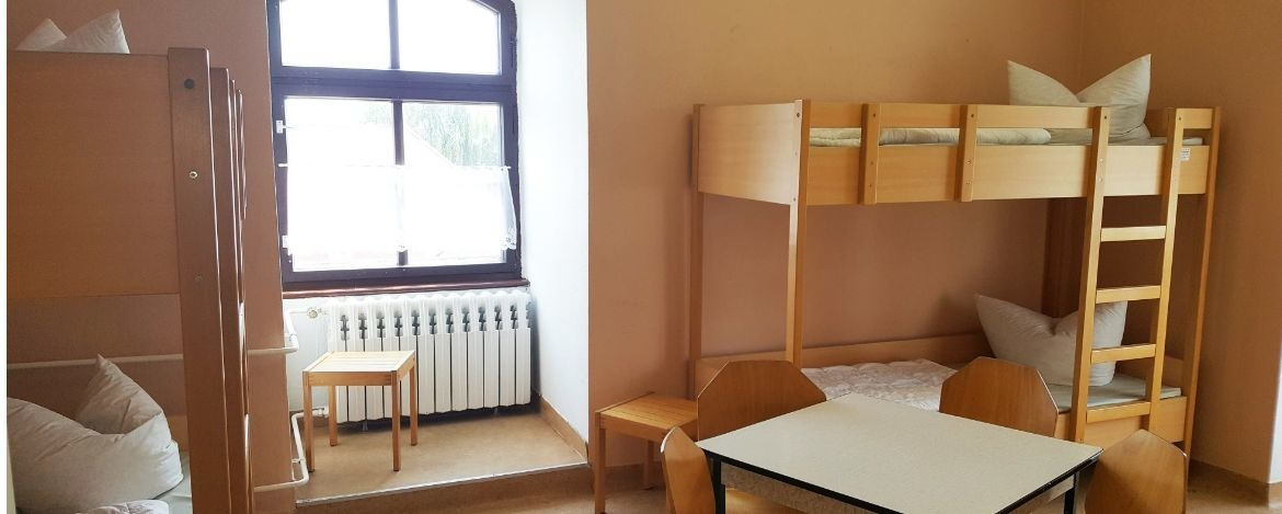 6-Bettzimmer in der Jugendherberge Radis