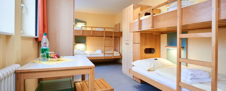 Zimmer der Jugendherberge