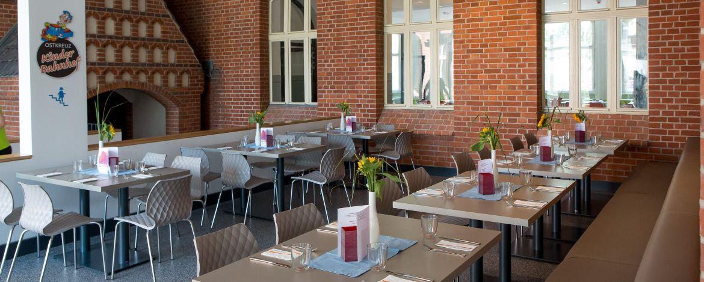 Bistro/Loungebereich der Jugendherberge Berlin Ostkreuz