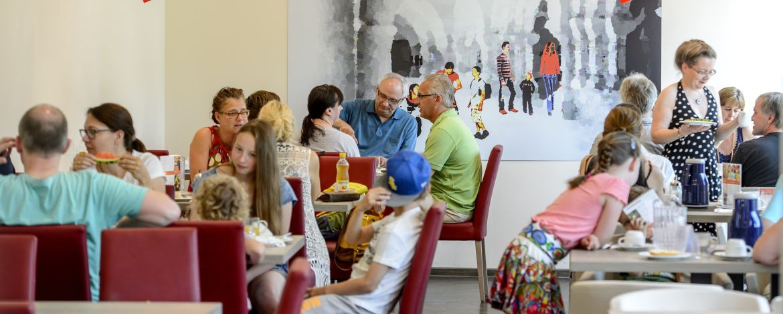 Speiseraum der Jugendherberge Leutesdorf