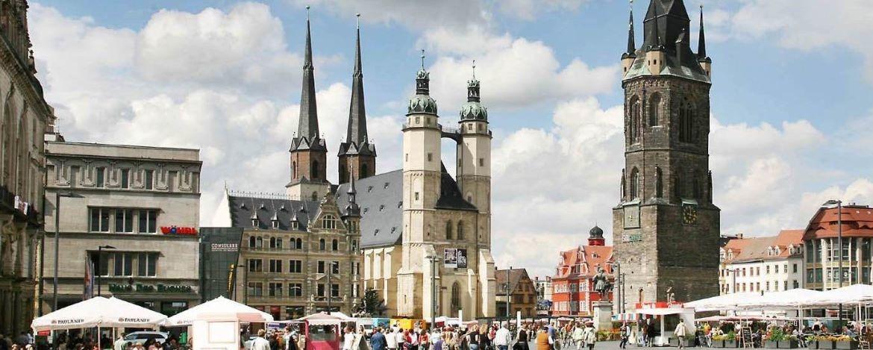 Marktplatz in Halle/ Salle