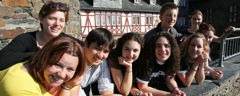Jugendgruppe in der Jugendherberge Bacharach