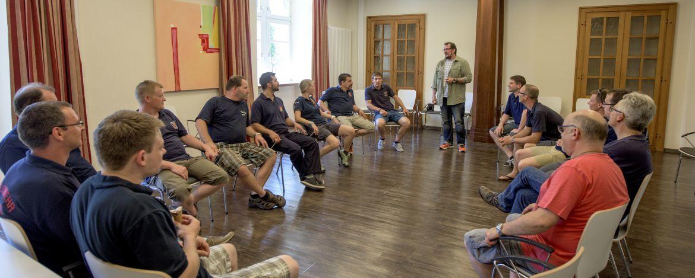 Tagungsgruppe in der Jugendherberge Leutesdorf