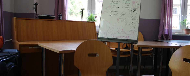 Seminarraum in der Jugendherberge Eisenberg