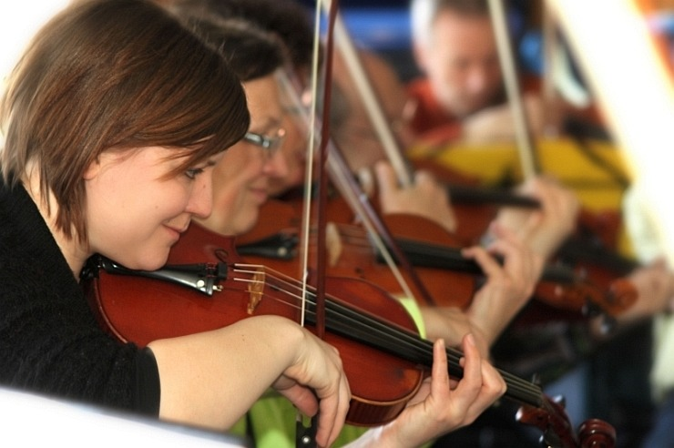 Orchesterprobe in der Jugendherberge Bad Münstereifel