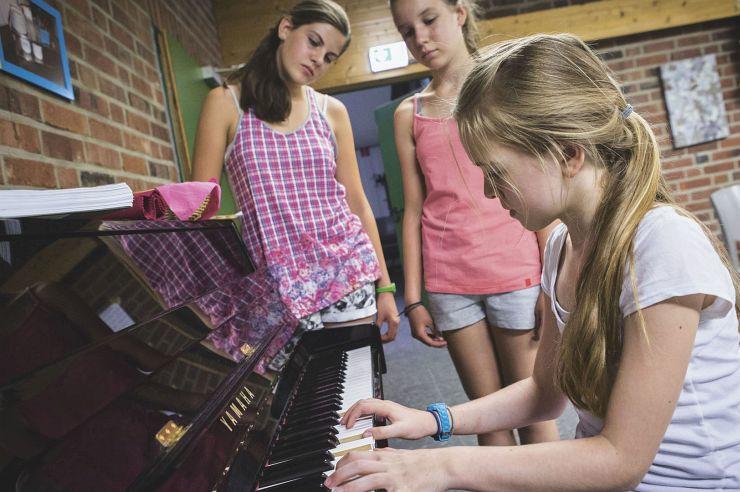 Musikprobe in der Jugendherberge Brüggen