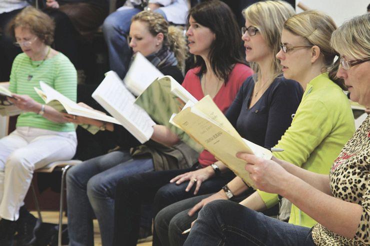Chorprobe in der Jugendherberge Brüggen