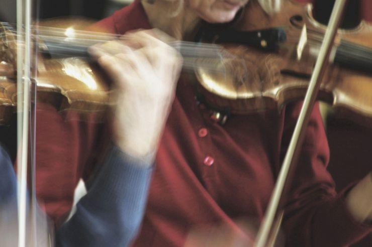 Orchesterprobe in der Jugendherberge Kleve