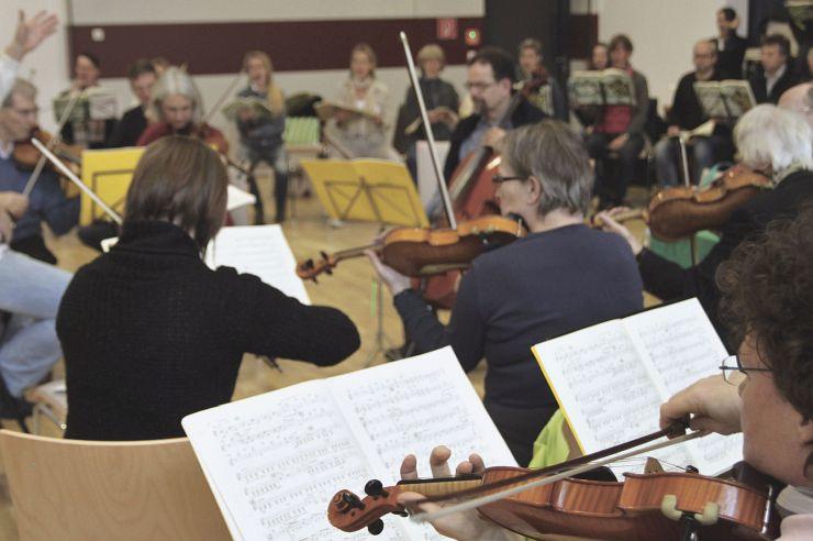 Orchesterprobe in der Jugendherberge Lindlar