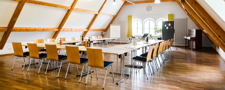 Tagungsraum in der Jugendherberge Wirsberg