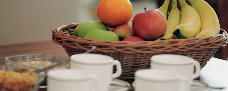 Kaffeepause in der Jugendherberge Hof