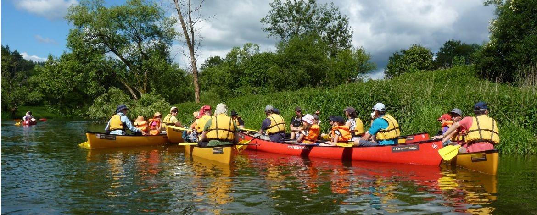 Kanu fahren auf der Donau