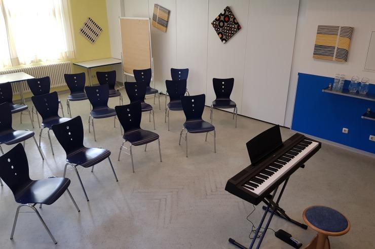 Probenraum mit E-Piano